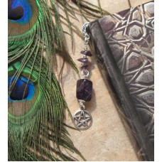 Metal Bookmark Amethyst nugget BOOK Mark SPELL Wicca