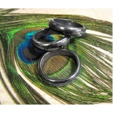 Magnetic gray black HEALING STONE Hematite Ring Bands *BEST QUALITY!* Chakra