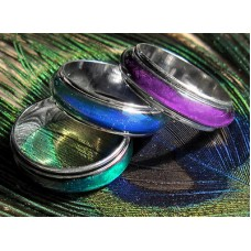 Spinner *MOOD RING GOTH ROCK EMO   SZ 6 6.5 7, 7.5, 8, 8.5, 9, 9.5, 10