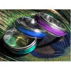Spinner *MOOD RING GOTH ROCK EMO   SZ 6 6.5 7, 7.5, 8, 8.5, 9, 9.5, 10